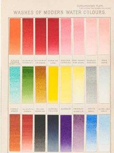 Fabric Colour Charts  Color Chart  Pallet  Trends