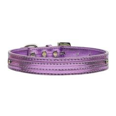 Metallic Two Tiered Dog Collar with 10MM Letter Strap - Purple. Add color and style to your four-legged friend's wardrobe with this beautiful Purple dog collar!Letter strap to personalize with 10MM charmsSilver-colored hardwareAdjustableMade in the USA!Why We Love It:We love the crystals embedded in the clasp of this dog collar. The Metallic Two Tiered Dog Collar with 10MM Letter Strap features a shiny exterior and sturdy silver hardware. The letter strap on the back of the collar is perfect…