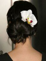 Back of Lucy Liu's hair style. Maybe get something similar from Tru Lu Couture.