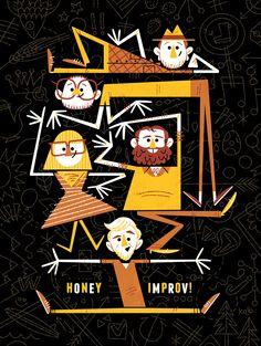 Poster for Honey Improv in New York, NY; Andrew Kolb