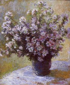 """More than anything I must have flowers, always always.""  Claude Monet - Saw this original in London!"