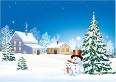 christmas snow Logo Vector
