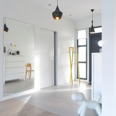 valkoinenharmaja-2247q Nordic Style, Small Spaces, Entrance, Sweet Home, Heaven, Doors, Mirror, Furniture, Home Decor