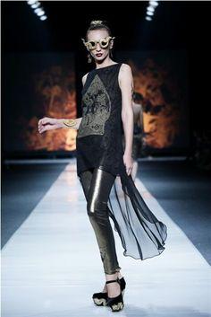 Jakarta Fashion Week 2012-2013..Designer Ghea Panggabean. Fashion designer from Indonesia