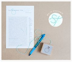 """I put a wedding word search (generic, taken off a Google search) on the last page of the ceremony program.  My teacher relatives laughed at me for entertaining the bored """"children."""""""