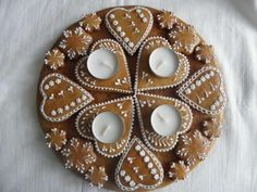 Holiday Cookies, All Things Christmas, Gingerbread, Holiday Decor, Pretty, Decoration, House, Food, Xmas