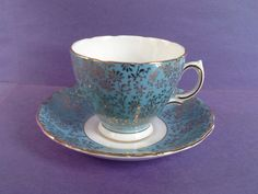 A personal favorite from my Etsy shop https://www.etsy.com/ca/listing/508507122/colclough-blue-gold-filigree-chintz