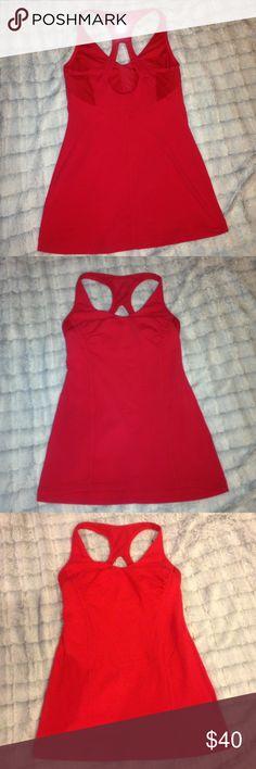 Lululemon Get Fit red tank top Super cute! Adjustable bra band. lululemon athletica Tops Tank Tops