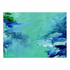 KESS InHouse Ebi Emporium 'Winter Dreamland 6' Green Blue Dog Place Mat, 13' x 18' ** Hurry! Check out this great product : Dog food container