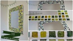 Espejo con venecitas hechas con cd´s reciclados