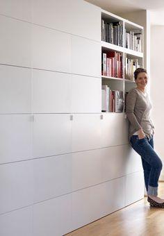Floor to ceiling IKEA Besta storage unit