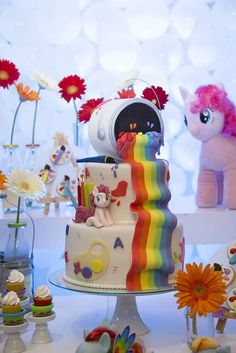 Incredible cake at a My Little Pony birthday party! See more party ideas at CatchMyParty.com!