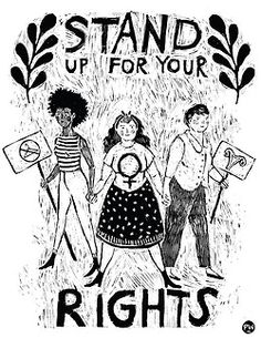 Feminist Art Friday Feature: Phoebe Wahl This Feminist Art Friday we are taking a bit of a different approach to one of our favorite posts and featuring a contemporary artist you can actually connect. Stand Up For Yourself, Riot Grrrl, Feminist Art, Feminist Quotes, Feminist Apparel, Intersectional Feminism, Illustration, Patriarchy, Tumblr Art
