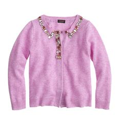We love when a cardi can accessorize all on its own. Case in point: this sparkling sweater that's made from the same comfy cashmere as Mom's, so she won't mind getting a little dressed up every now and then.<ul><li>Cashmere.</li><li>Hand wash.</li><li>Import.</li><li>Select stores.</li></ul>
