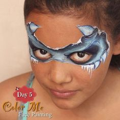 25 Days of Christmas Face Painting. Ice monster. - Color Me Face Painting