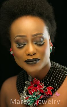 Makeup-by-Jagabeauty for Marcol-Jewelry Makes You Beautiful, Black Is Beautiful, Make Up Artis, Black Lipstick, School Makeup, 2015 Trends, Just The Way, Beauty Trends, Statement Jewelry