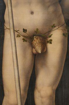 Hilarious. Neptune and Amphitrite, (detail), Jan Gossaert, 1516