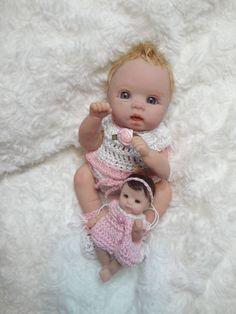 "6"" OOAK Hand Sculpted Baby  Polymer Clay Original Mini Art Doll by kellyirma"