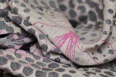 Baby Carrier Wrap Secret Garden Vintage, made by Minako, in pattern Secret Garden , contains cotton tsumugi silk merino glitter Limited Edition, released 9 August 2017 Baby Wrap Carrier, Woven Wrap, Babywearing, Alexander Mcqueen Scarf, Wraps, Glitter, Silk, Garden, Pattern