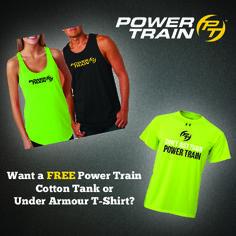 Power Train Cotton Tanks and Under Armour T-Shirt #PTGear