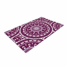 East Urban Home Cristina Bianco Design Mandala Design Abstract Purple Area Rug Rug Size: 2' x 3'