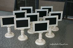 Set 10 Framed and Doublesided Chalkboards  by themudpiestudio, $225.00