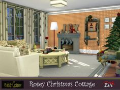 This cottage is cozy with all the warmth and the happiness a family needs to celebrate Christmas. Three bedrooms on the second floor. First floor, kitchen with dining room,living room,bathroom and a porch. Found in TSR Category 'Sims 4 Residential Lots' Last Christmas, Toddler Christmas, Christmas Bedding, Star Wall, Sims Community, Second Floor, Toddler Bed, Dining Room, Cottage