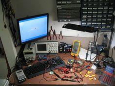 Electronics Workbench by jamesbastow, via Flickr