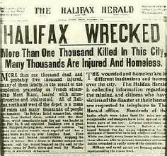 The Halifax explosion was the biggest Canadian tragedy in terms of life loss and despair. History For Kids, Today In History, Halifax Explosion, Kent County, Atlantic Canada, Canadian History, England And Scotland, True North, Prince Edward Island