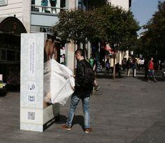 """Caja gigante de pañuelos para el lanzamiento de la película """"Todos los días de mi vida"""" #ambient #JWT vía @masquebtl"""