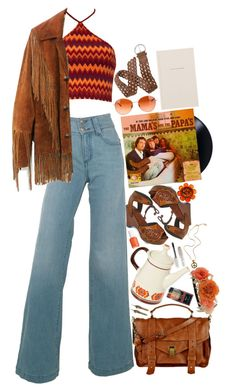 """""""Somebody Groovy"""" by thatnowherechick ❤ liked on Polyvore featuring Mamas & Papas, Motel, Del Forte, WALL, Oliver Peoples, Essie, Topshop, Guide London and Mantaray"""