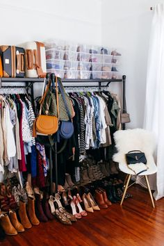 haute off the rack, closet organization, office closet, office space ideas, closet space idea, how to create you're own walk-in closet, women's fashion, home design, closet DIY
