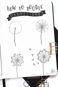 How fun is this simple dandelions step by step tutorial? bullet journal ideas - 17 Amazing Step By Step Flower Doodles For Bujo Addicts - Crazy Laura Bullet Journal Writing, Bullet Journal Aesthetic, Bullet Journal Ideas Pages, Bullet Journal Inspiration, Bullet Journals, May Bullet Journal, Journal Themes, Doodle Inspiration, Journal Layout