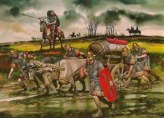 La Pintura y la Guerra. Sursumkorda in memoriam Roman Warriors, Celtic Warriors, Ancient Rome, Ancient History, Fall Of Constantinople, Roman Legion, Roman Britain, Roman Soldiers, Roman History