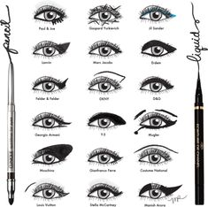 Eye makeup styles by designer (love Marc Jacobs.. as usual!)