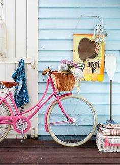 Ooh, I want a pink bike (via At Home in Love)
