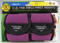 I went to Walmart purchased them today, ok Friday here I come....... .  Gold`s Gym 3 lb. Pair Ankle / Wrist Weights