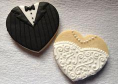 Bride and Groom Wedding Cookies