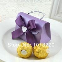 Purple Butterfly 20X Moda European Small Carry Bag caixas dos doces do casamento favores presente Carry Bag Box Doce Rosa