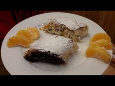 Konyakmeggyes csokoládés és barackos túrós rétes. / Szoky konyhája / - YouTube Desserts, Recipes, Youtube, Food, Tailgate Desserts, Deserts, Rezepte, Essen, Dessert