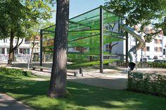 Netzvilla, Spielplatz am Promenadenband: moderner Garten von A24 Landschaft Landschaftsarchitektur GmbH