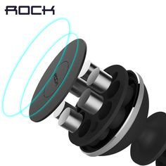 ROCK Magnetic Car Phone Holder, Mini Air Vent Outlet Mount  Magnetic Phone Mobile Holder Universal For iphone Samsung Car Stand *** Click the VISIT button to view the details