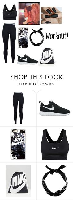 """""""Workout Outfit"""" by jaden-norman ❤ liked on Polyvore featuring NIKE, Casetify and New Look"""