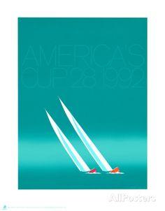 Duel (1992, Coupe des Amériques bleue) Reproduction d'art