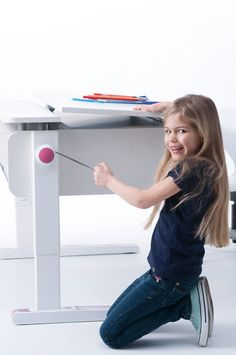 NEW Champion by moll: height-adjustable, split desktop, tilting function, this desk grows with your child and promote good posture thus improving concentration and learning