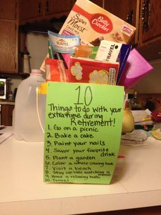 Retirement Survival Kit ... (Fri.) - Have the props on a board ...
