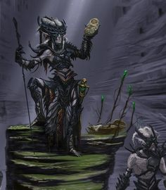 TIL: Early concept art of the Falmer seems to indicate they enjoy stealing Nord babies : skyrim
