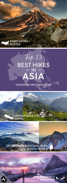 The Best Hikes in Asia – Best Hiking Trails – Hiking Bucket List – Beautiful Backpacking Places To Go On Vacation