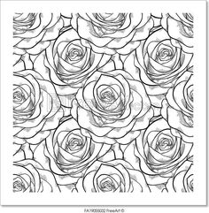 Trendy Flowers Drawing Rose Coloring Pages Rose Coloring Pages, Printable Flower Coloring Pages, Coloring Pages For Grown Ups, Adult Coloring Pages, Free Coloring, Coloring Books, Pattern Coloring Pages, Rose Illustration, Coloring Pages Inspirational