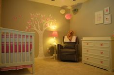 Our beautiful nursery for baby girl!